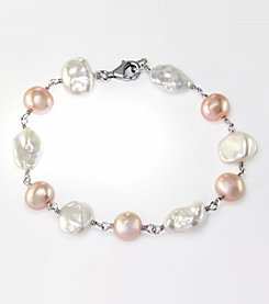 Effy® Pearl Bracelet in Sterling Silver