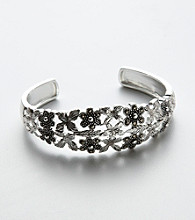 Marcasite in Base Metal Cuff Bracelet
