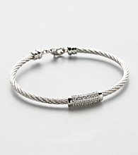 Silver Plated Cable Bangle Bracelet