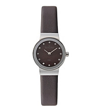 Skagen Denmark Brown Women's Brown Leather Watch