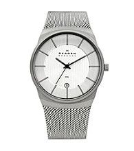 Skagen Denmark Silver Men's Silver Mesh Watch