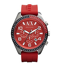A|X Armani Exchange Red Men's Red Silicone Watch