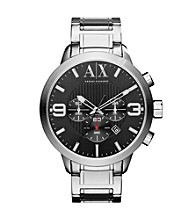 A|X Armani Exchange Silver Men's Stainless Steel Bracelet Watch