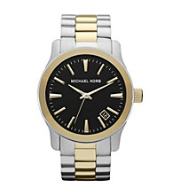 Michael Kors® Two Tone Runway Watch