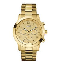 Guess Goldtone Euro-Cool Chronograph Watch