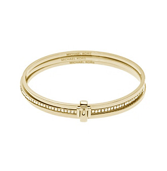 Michael Kors® Goldtone Buckle Bangle Bracelet Set