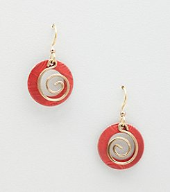 Silver Forest® Red Round Earrings