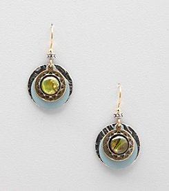 Silver Forest® Blue Layered Rounds Earrings