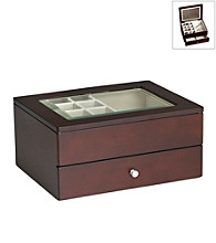 Wallace® Mahogany Jewelry Box with Drawer and Window