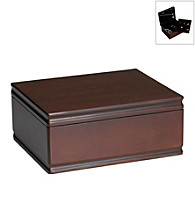 Wallace® Dark Walnut Jewelry Box with Removable Tray