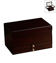Wallace® Dark Walnut Jewelry Box with Expandalbe Compartment