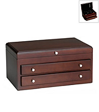 Wallace® Large Dark Walnut Jewerly Chest with Two Drawers