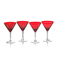 Mikasa® Cheers Ruby Set of 4 Martini Glasses