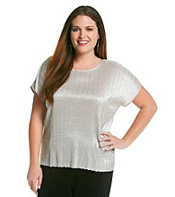 Notations® Plus Size Shine Top