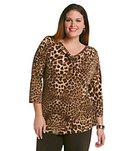 Anne Klein® Plus Size Drapeneck Top
