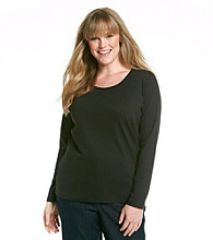 Jones New York Sport® Plus Size Scoopneck Solid Top