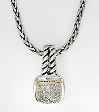 Effy® Sterling Silver Diamond Necklace
