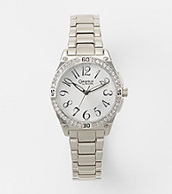 Caravelle® by Bulova Women's Silvertone with Swarovski Elements® Watch
