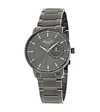 Kenneth Cole New York® Men's Gunmetal IP Multi-Function Watch, Gunmetal Bracelet