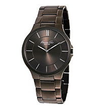 Kenneth Cole New York® Men's Brown IP Slim Case with Brown Dial Bracelet Watch