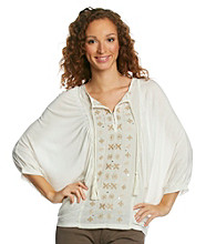 Nine West Vintage America Collection® Hans Embroidered Batwing Peasant