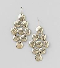 Erica Lyons® Goldtone Chandelier Pierced Earrings