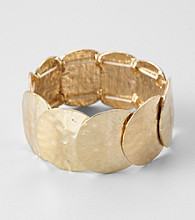 Erica Lyons® Goldtone Shield Stretch Bracelet