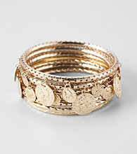 Erica Lyons® Goldtone Narrow Bangle Stack Bracelet