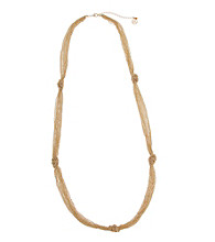 Erica Lyons® Goldtone Knotted Chains Necklace