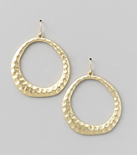 Erica Lyons® Goldtone Front Hoop Pierced Earrings