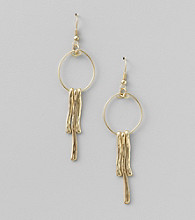 Erica Lyons® Goldtone Drop Pierced Earrings