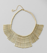 Erica Lyons® Goldtone Short Front Fringe Necklace