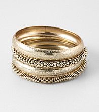 Erica Lyons® Goldtone Bangle Stack Bracelet