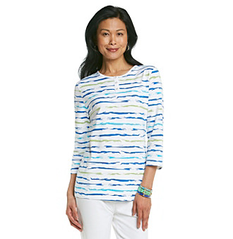 Breckenridge® Painted Stripe Henley Tee