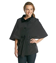 Betsey Johnson® Single-Breasted Belted Rain Cape