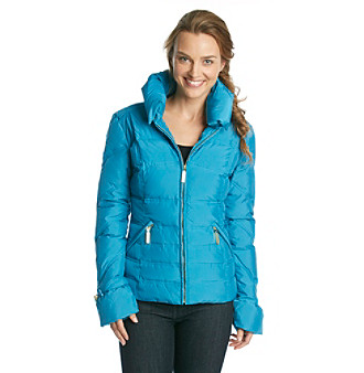 Betsey Johnson® Short Stand Collar Down Jacket