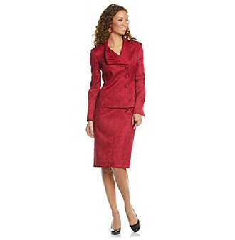 Le Suit® Paisley Jacquard Skirt Suit