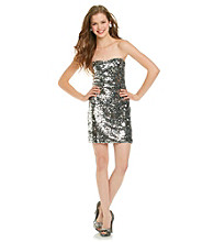 As U Wish® Juniors' Silver Sequin Dress
