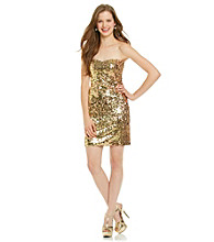 As U Wish® Juniors' Sequin Strapless Dress