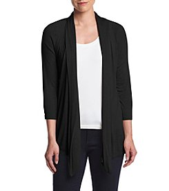 AGB® Tab Back Open-Front Cardigan