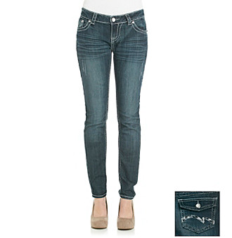 Vanilla Star® Juniors' Bling Skinny Jeans