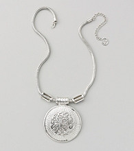Erica Lyons® Silvertone Short Pendant Necklace