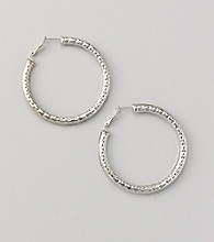 Erica Lyons® Silvertone Hoop Pierced Earrings