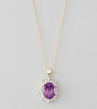 Marsala 10K Yellow Gold and Amethyst Pendant Necklace
