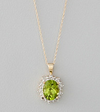 Marsala 10K Yellow Gold and Peridot Pendant Necklace