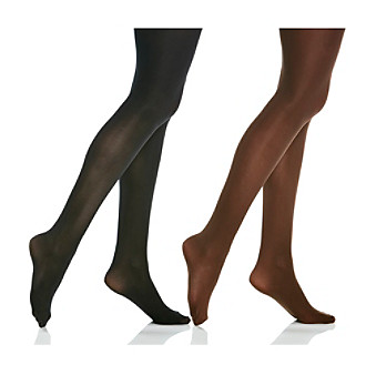 Relativity® 2-pk. Basic Tights - Brown