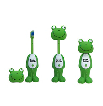 BrushBuddies® Poppin Toothbrush Leapin Louie the Frog