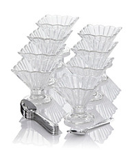 Crystal Clear® Alexandria 17-pc. Taster Tinis with Spoons