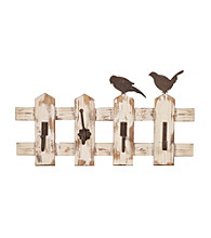 Sheffield Home® Birds On Picket Fence Wall Hooks