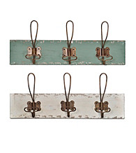 Sheffield Home® White Distressed Wall Hooks